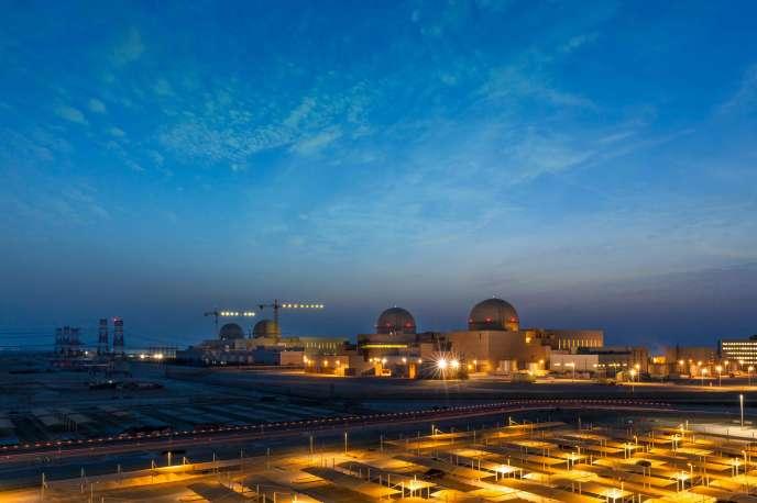 La centrale de Barakah le 1er Aout 2020 (image Stringer / AFP)